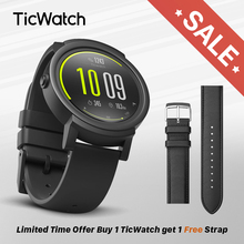 TicWatch E Black Smart Watch Bluetooth Smartwatch with GPS Android&iOS compatible Google Wear OS IP67 Waterproof Mobvoi Original