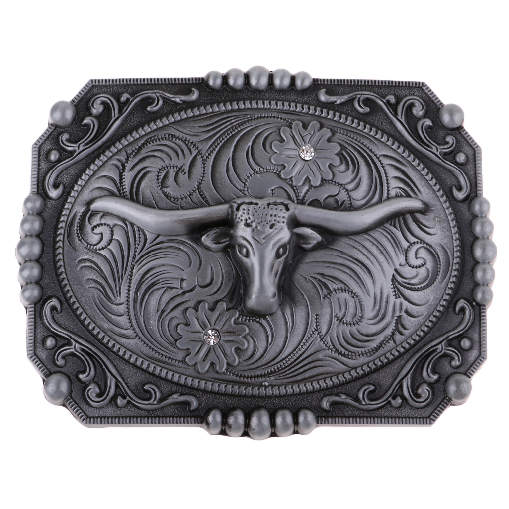 Vintage Classic Texas Long Horn Cow Western Cowboy Cowgirl Belt Buckle Zinc Alloy