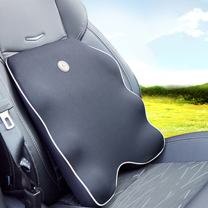 Image 2 - 首枕車の座席のヘッドレスト枕シートサポート腰椎クッション整形外科デザイン旅行枕低反発緩和痛み