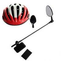 Плоское легкое зеркало для горного велосипеда, шлем, крепление на зеркало заднего вида, велосипедный аксессуар, вращение на 360 градусов, уни...