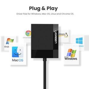 Image 4 - Ugreen USB 3.0 קורא כרטיסי SD מיקרו SD TF CF MS קומפקטי פלאש כרטיס מתאם עבור מחשב נייד רב כרטיס קורא 4 ב 1 כרטיס קורא