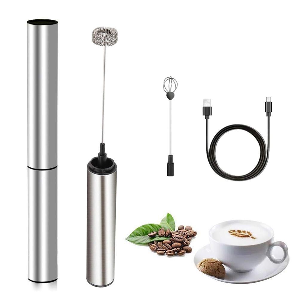 USB Перезаряжаемый вспениватель молока Ручной портативный пенообразователь идеально подходит для дома на открытом воздухе путешествия под...