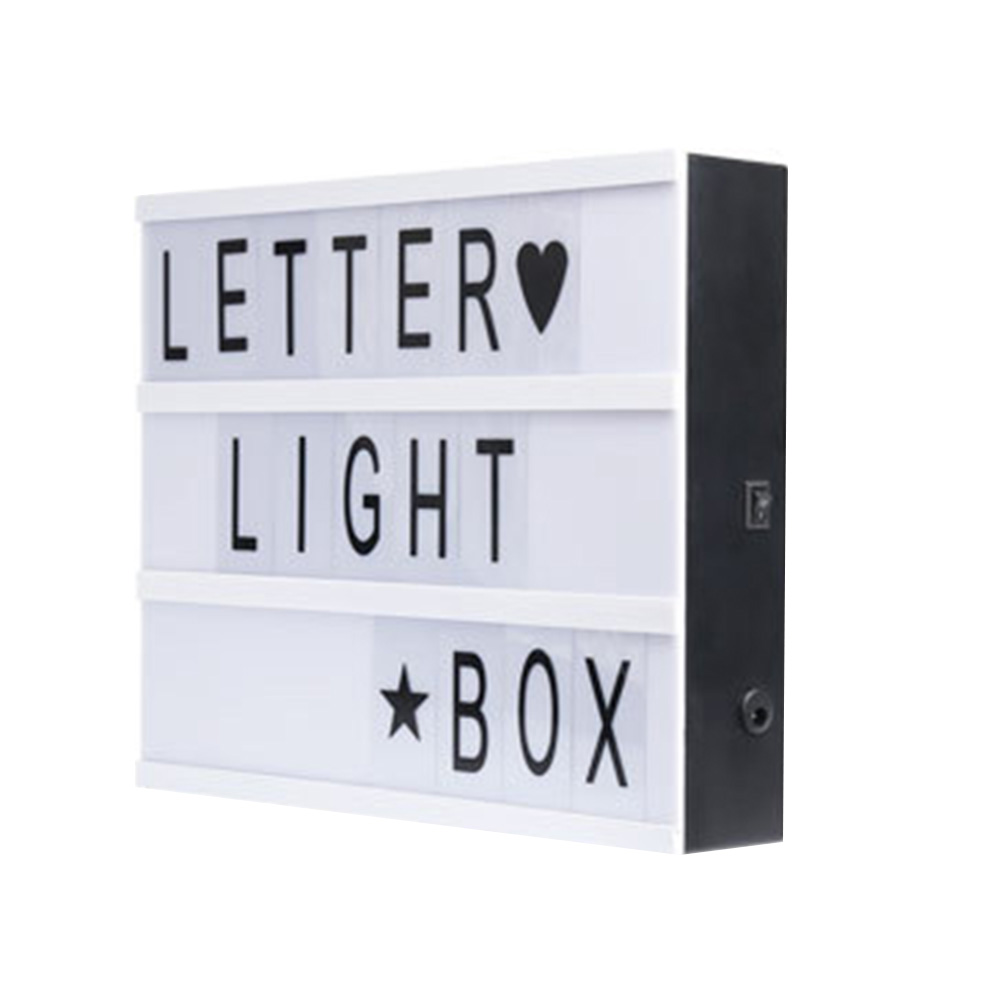 A4 / A5 Cinematic Light Up Sign Box LED Letter Lamp Home Wedding Party Decor