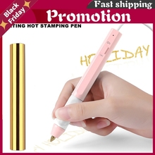 Pink 1.5mm/0.8mm/2.5mm Heating Hot Stamping Pen Set To Add Shining Handwritten Sentiments USB Powered For Paper Leather Use