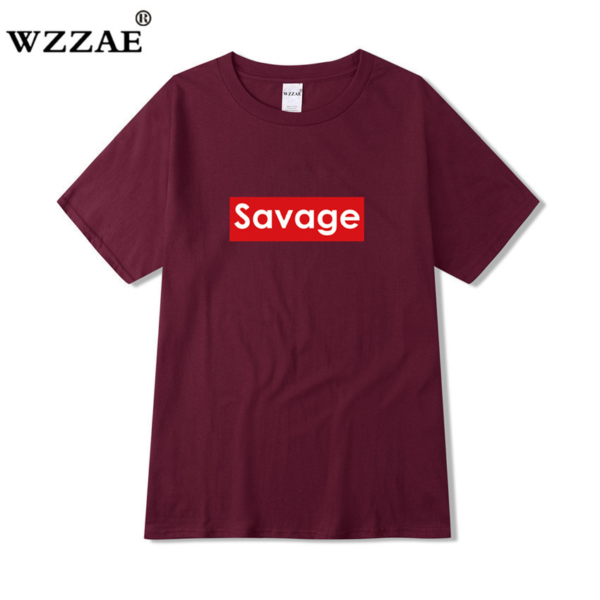 WZZAE Men T shirts 21 Savage T Shirt Supreme <font><b>Parody</b></font> No Heart X Savage Mode Slaughter Gang ATL Cotton O NECK Short Sleeved <font><b>Tshirt</b></font> image