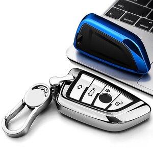 Image 2 - Fit für BMW X1 X3 X5 X6 1/3/5/7 Serie M5 Auto Schlüssel Abdeckung Schlüssel Fall Hohe Qualität Chrom TPU Auto schlüssel Shell Protector Schlüssel Ketten