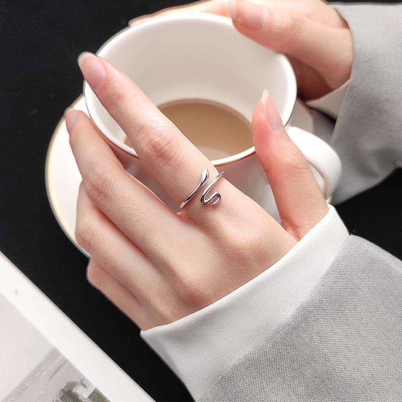 Charm Snake Finger Ring For Women Men Vintage Boho Knuckle Party Rings Punk Jewelry Girls Gift 5