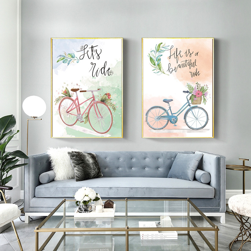 Letters-and-Bicycle-Home-Decoration-Canvas-Painting-Bedroom-Living-Room-Posters-Hd-Printing-Pictures-with-Waterproof (3)