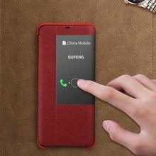 Luxus Smart Echtem Leder Flip Fall Für Huawei Mate 30 20 Pro 20 X 20X 5G 20 RS P30 pro Luxus Slim Schutz Telefon Fall Tasche
