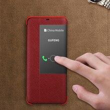 Étui à rabat en cuir véritable intelligent de luxe pour Huawei Mate 30 20 Pro 20 X 20X 5G 20 RS P30 Pro sac de Protection mince de luxe pour téléphone