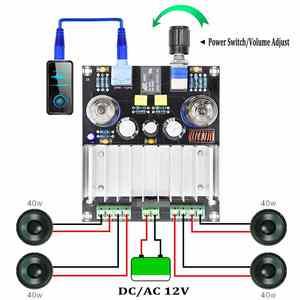 Image 2 - XH A202 12V TDA7388 أربعة قناة 4x40 W الصوت الطاقة مُضخّم صوت مجلس ستيريو preamp الصفراء عازلة سيارة أمبير aplificador