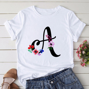 2020 New Summer Letter Printed Women T-shirt Harajuku Short-Sleeved O-Neck Tee Shirt Girl Tee Top Fashion Tshirt Female Clothing 1