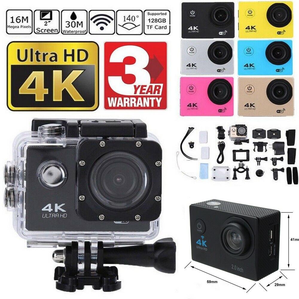 SJ9000 Wifi 4K 1080P Ultra HD спортивная камера DVR DV видеокамера 30 м Водонепроницаемая видеокамера на шлем