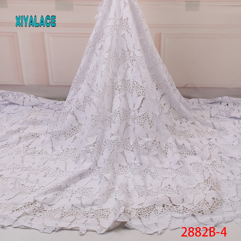 High Quality Most Popular New Style African Lace Fabric,  Applique Lace For Wedding, Bridal Dress Lace Fabric YA2882B-4
