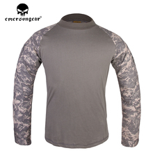emersongear Mens Combat Hunting Shirt Army Military Tactical Outdoor Sports Fit Tops ACU Shirt emersongear tactical short sleeve t shirt lightweight soft airsoft military army training shirt outdoor hunting camping clothing