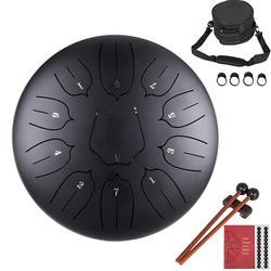 Stalowy bęben instrument perkusyjny Lotus Hand Pan bęben z torbą 11 notatek 10 cali akcesoria muzyczne|Bęben|Sport i rozrywka -