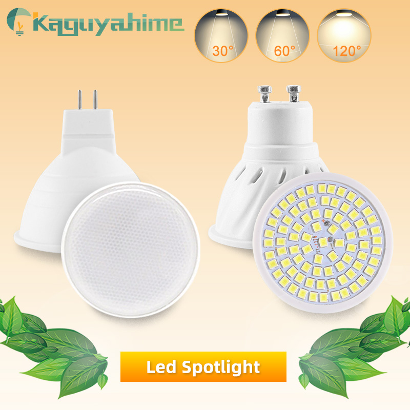 Kaguyahime LED Spotlight Lamp MR16 E27 GU10 GU5.3 MR11 Led Spot Light 6W 7W 8W 220V DC 12V Spot LED Bulb Light Lampada Bombillas
