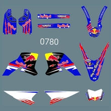 New Bull Full Graphics Decals Stickers Custom Number Name Glossy Kits for YAMAHA WR250R 2008 2009 2010 2011 2012 2013 2014 2015 husqvarna te450 te510 tc450 tc510 2008 2010 year 3m graphics background decals stickers kits dirt bike motorcycle