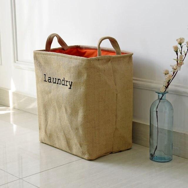 Фото утолщенная корзина для хранения джутовой подкладки складная цена