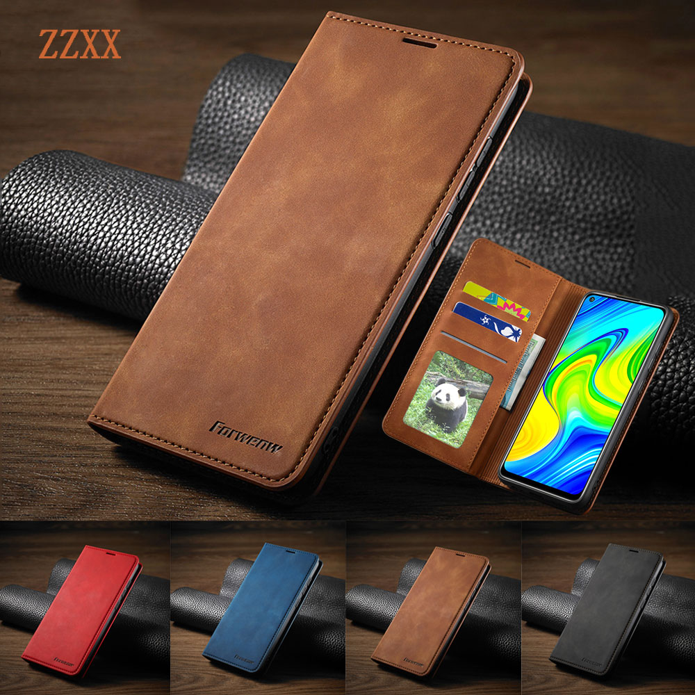 Business Magnetische Leather Case Voor Huawei P40 P40 Lite P40 Pro P30 P30 Lite P30 Pro P20 P20 Lite P smart 2019/2020 Wallet Cover