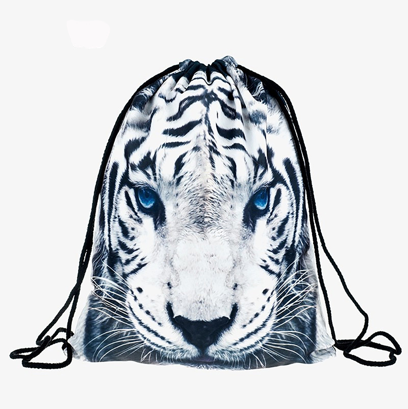New Fashion Women Backpack 3D Printing Travel Softback Women Llama Aztec Drawstring Bag Mens Backpacks Girls Backpack Rop Tiger