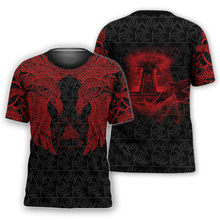 JUMEAST-3D printed men's T-shirt summer Viking casual streetwear 2021 new polyester material made in China