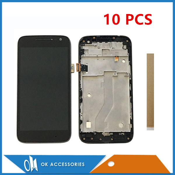10PCS/Lot Black White For Motorola Moto G4 Play XT1603 XT1601 XT1604 XT1602 LCD Display With Touch Screen Digitizer With Frame