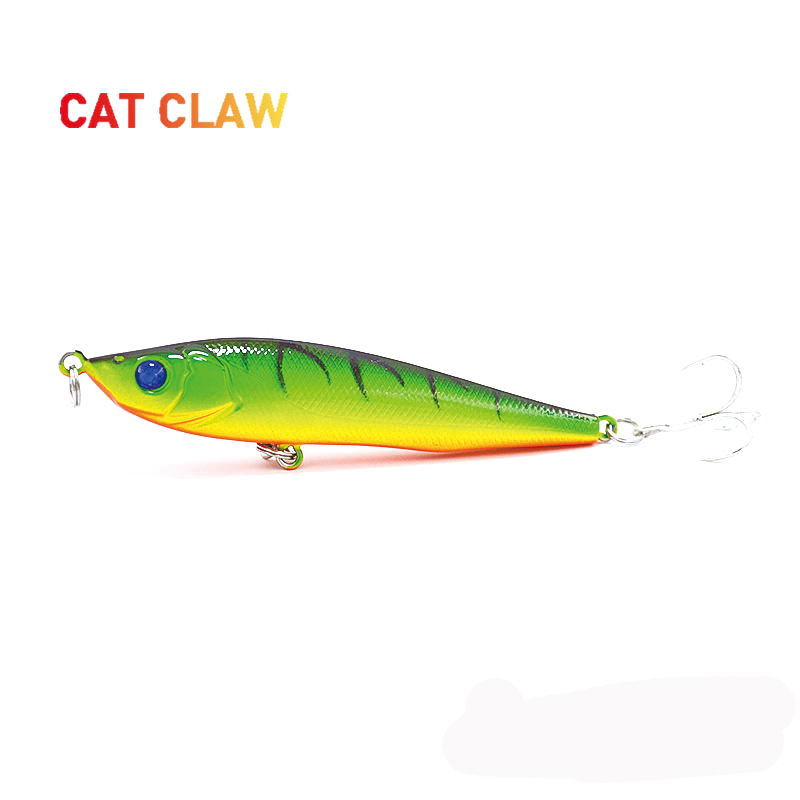 Cat Claw 3D Eyes lure  101P 14g 81mm Long Casting Pencil Stick Bait lure popper Sinking Floating Artificiais Spray Paint Tackle