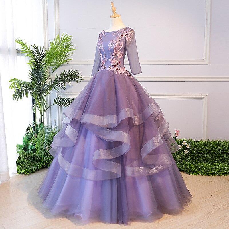 2019 Cheap Quinceanera Dresses Vestido Debutante 3D Floral Flower Long Women Prom Dress Sweet 16 Dress Ball Gowns