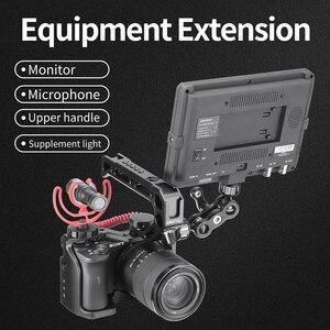 Image 5 - กรอบอลูมิเนียมป้องกันVlogการถ่ายภาพกล้องสำหรับSony A6600 พร้อมที่จับ 1/4 3/8 สกรูสำหรับไฟLEDไมโครโฟน