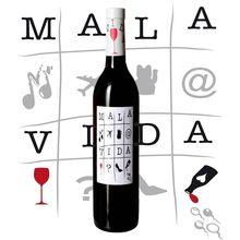 Mauvaise vie, vin rouge de chêne, bouteille de 750ml