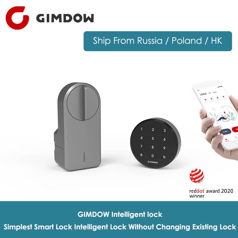 GIMDOW Smart Door Lock Digital Bluetooth Intelligent Lock without changing existing Lock Wireless App Bluetooth Control