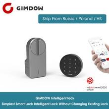 GIMDOW Smart Door Lock Digital Bluetooth Intelligent Lock without changing existing Lock Wireless App Bluetooth Control wafu wf 008u app door lock bluetooth door lock remote control door lock