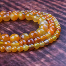 Fashion jewelry 4/6/8/10/12mm Yellow Striped Agate, suitable for making jewelry DIY bracelet necklace