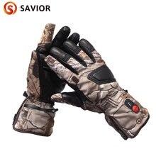 Спаситель зимние теплые охотничьи перчатки с аккумулятором и