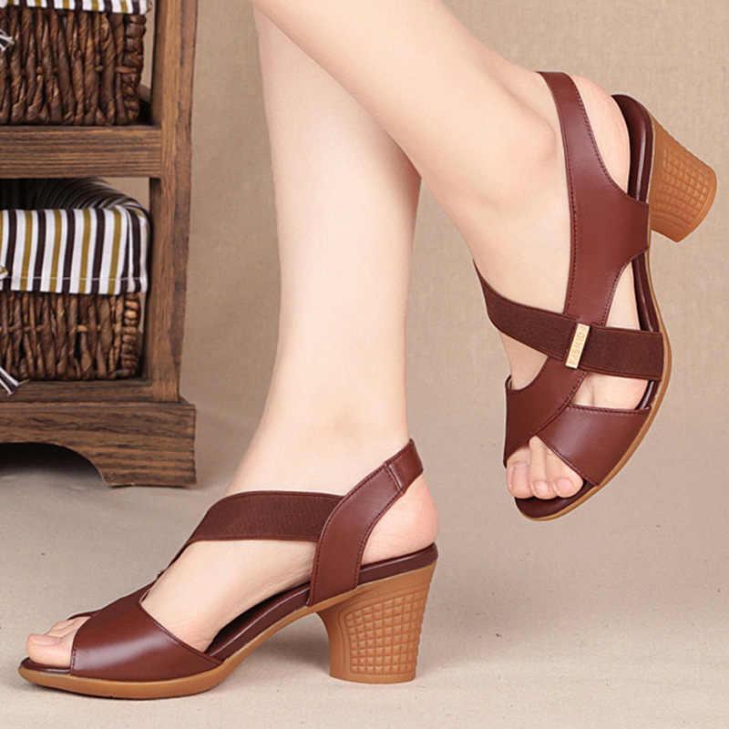 Mode Frauen Sandalen Plattform Sommer Runde Mitte Ferse Peep Toe Casual Non-slip Zurück Strap Strand Damen Schuhe Zapatos de Mujer