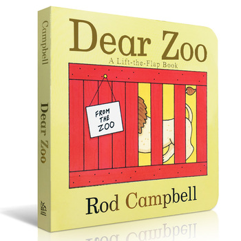 Baby CardBoard Books Dear Zoo English Picture Board for Kids Educational Learning Animal Word Card - discount item  15% OFF Learning & Education