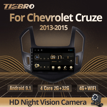 TIEBRO 2Din Android 9.0 Car Radio For Chevrolet Cruze J300 J308 2012-2015 Car Multimedia Player Navigation No 2din Dvd Player image