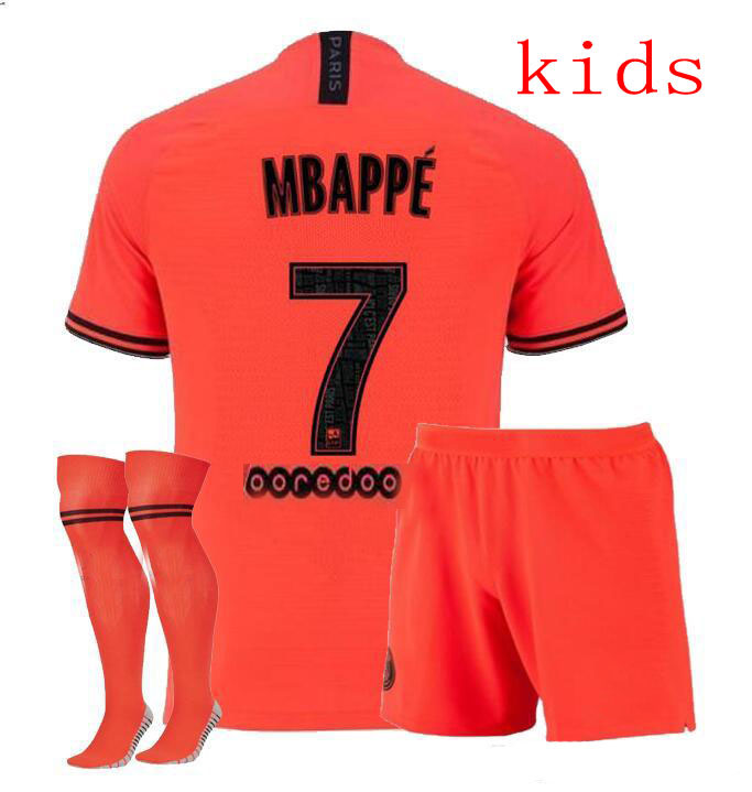size 40 c329f 06cc8 US $17.68 |2020 kids kit + sock ssoccer jersey 19/20 PSG child suit home  blue away orange MBAPPE football shirt Free Shipping on Aliexpress.com | ...
