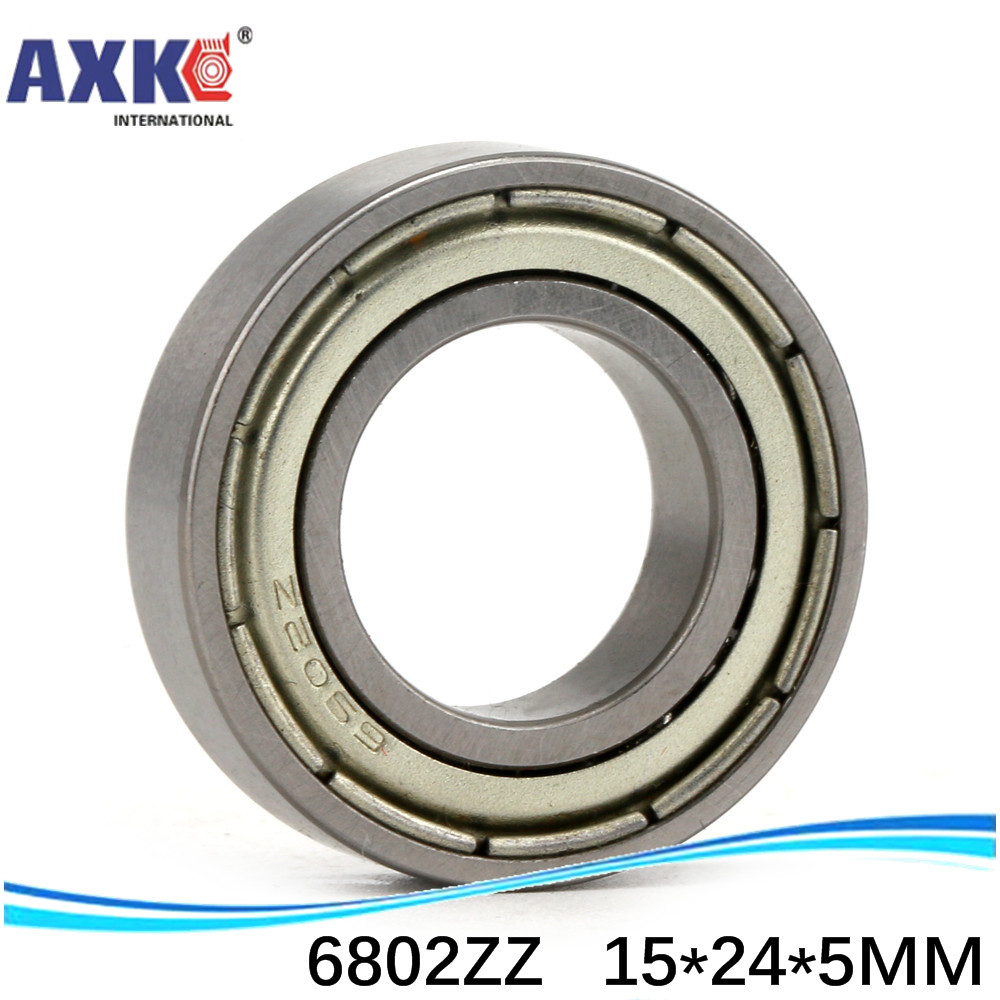 sale price 50pcs free shipping thin wall deep groove ball bearing <font><b>6802ZZ</b></font> 15*24*5 mm ABEC-1 Z1 image