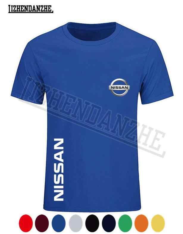Nissan logo hommes t-shirt, été marque de mode vêtements à manches courtes, haute qualité voiture t-shirt, coton auto t-shirt nouveau