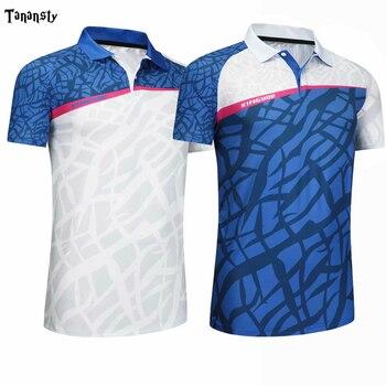 Новинка, рубашки для бадминтона, поло для женщин и мужчин, теннисные майки, спортивные футболки для настольного тенниса, футболки для игры в ...