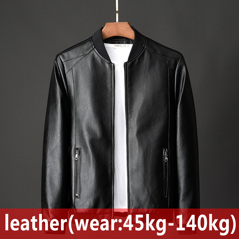 2020 New Men's Leather Jacket Fashion Spring Autumn Foreign Trade Jackets Large Size Leather Male Motorcycle Coats P88817
