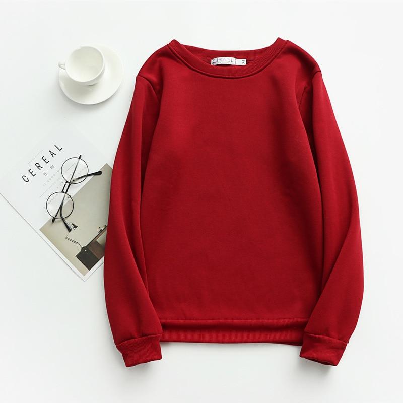 Women Solid Sweatshirts Korean Style Autumn Ladies Student Round Neck Long Sleeve Loose Pullover Tops WDC6301 24