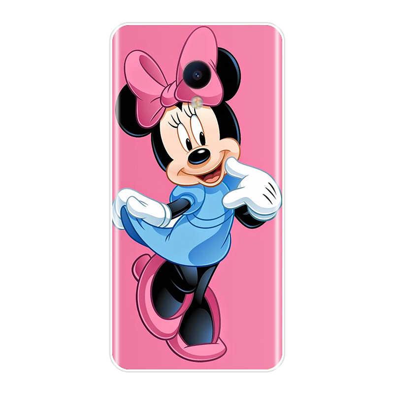 Mickey Minnie À Motifs coque de téléphone En Silicone Pour Meizu M2 M3 M3S M5 M5C M5S M6 M6S M6T Housse de PROTECTION Arrière en TPU Meizu M2 M3 M5 M6 Note