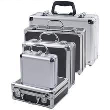 Портативный алюминиевый ящик для инструментов, безопасный ящик для инструментов, ящик для инструментов, ящик для хранения, чемодан, ударопрочный чехол с губкой