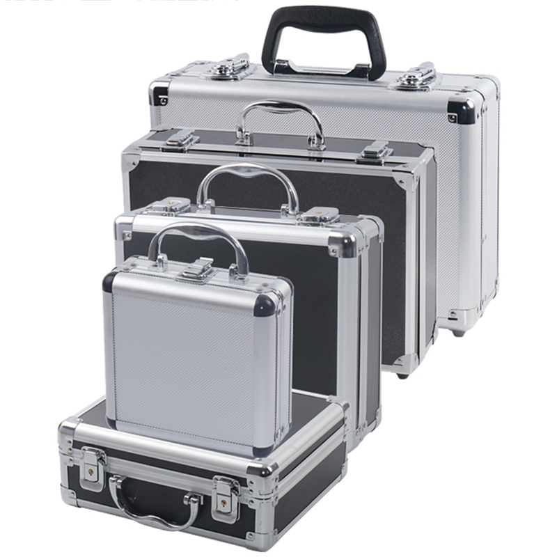 Draagbare Aluminium Gereedschapskist Veiligheid Apparatuur Toolbox Instrument Box Storage Case Koffer Slagvast Case Met Spons|Gereedschapskisten|   -