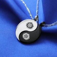 Pentagram Necklace Pendant Religious Supernatural Stainless Steel Necklace Jewish Shield Star David