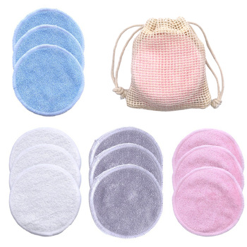 10PCS/Set Reusable Bamboo Fiber Washable Rounds Pads Makeup Removal Cotton Pad Cleansing Facial Pad Cosmetic Tool Skin Care 1