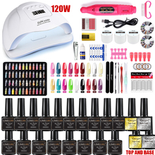 Nail-Set Led-Lamp-Dryer Electric-Nail-Drill Soak-Off-Manicure-Set 120W UV with 18/12pcs